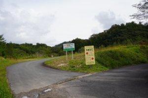 山佐ダムキャンプ場 分岐点