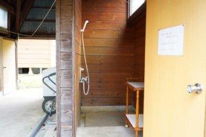 山佐ダムキャンプ場 シャワー室